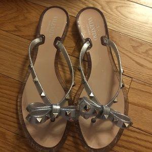 Valentino Rockstuds Silver HW Sandal